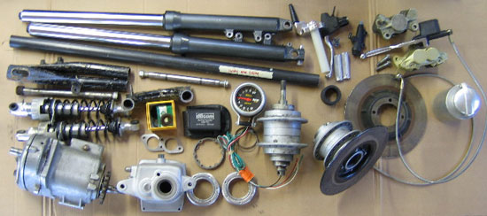 358 Vintage Racer vital parts from many manufacturers