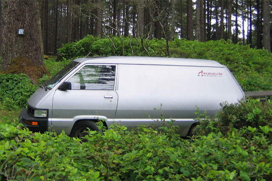 Paul Brodie's stolen van with Aermacchi and all contents