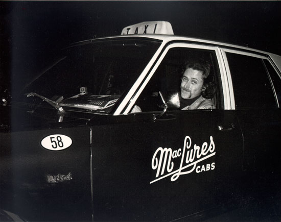 Paul driving cab 1980s