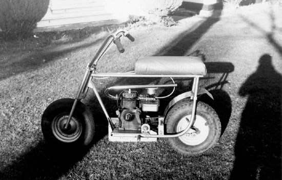 Mini bike Paul Brodie built, age 12