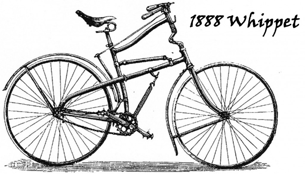 Original drawing 1888 Whippet bicycle by C.M. Linley & J. Briggs