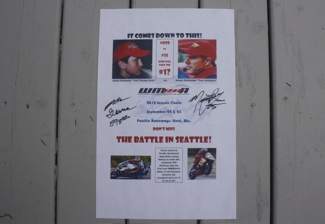 Signed poster by John Gessner & Mark DeGross Seattle