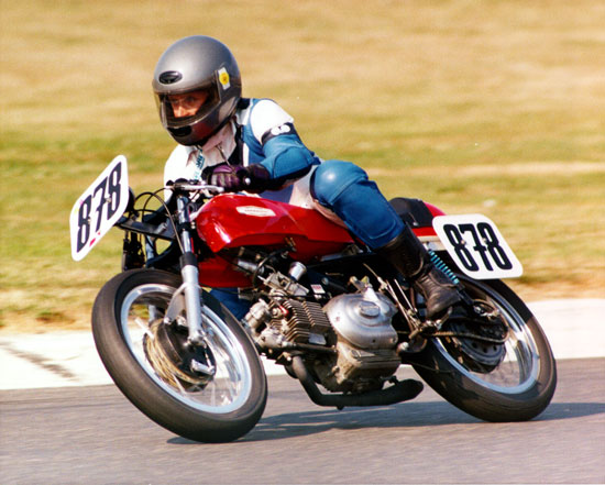 Paul on his Aermacchi Racer