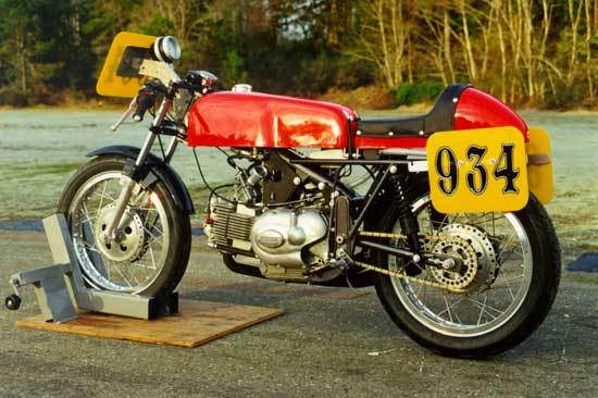 Paul Brodie's Aermacchi Racing bike