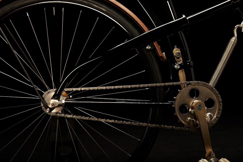 1888 Whippet Replica rear wheel assembly.