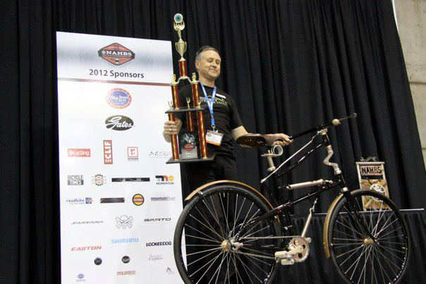 Paul at the 2012 NAHB. The 1888 Whippet Replica won the People's Choice Award